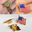 thumbnail 2 - Lot of 50 AMERICAN FLAG LAPEL PINS United States USA Hat Tie Tack Badge Pin