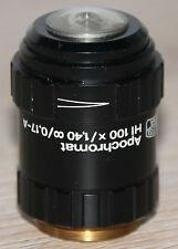 Zeiss Mikroskop Microscope Objektiv Apochromat HI 100x/1,40 ∞/0,17-A mit Iris