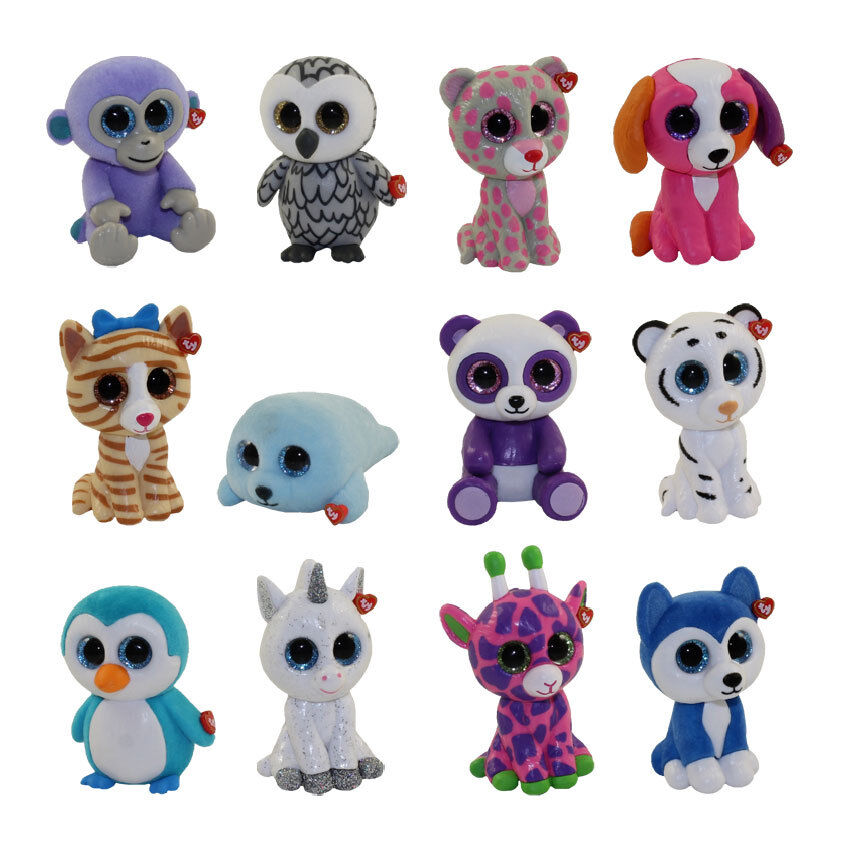 SET of 12 Ty Beanie Boos Boos Boos Mini Boo Hand Painted Collectible SERIES 2 Figurines 675e8c