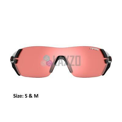 Tifosi Amok Bike Cycling Crystal Black Enliven Red Lens Sunglasses