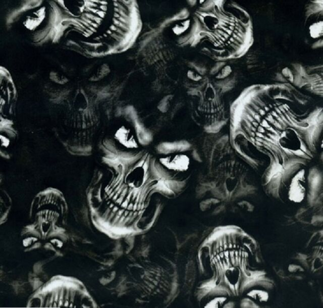 Hydrographic Film Water Transfer HYDRODIPPING Hydro DIP Evil Eye Skulls