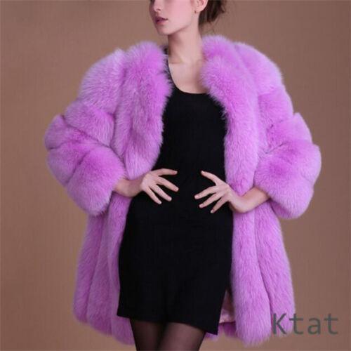 Poil Manteau Veste De Outwear Nw Épais Casual Femmes Luxe Taille Hiver À De De Renard Fourrure Nouveau Ogw4dq4