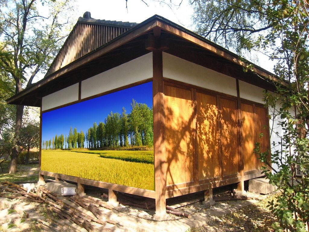 3D Grass Trees Sky 8 Wall Paper Murals Wall Print Wall Wallpaper Mural AU Kyra