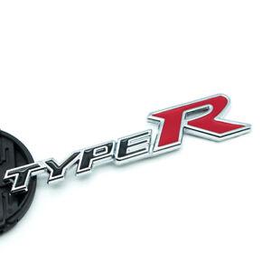 2Pcs Black Chrome Type R Side Fender Emblem 3D Metal Sport Wing Badge For EK EG