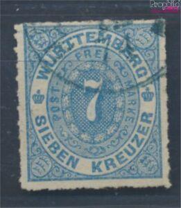 Wuerttemberg-39b-fein-B-Qualitaet-geprueft-gestempelt-1869-Ziffern-Oval-7693578