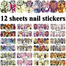 12 Sheet Dreamcatcher Decal Water Transfer Manicure Nail Art Stickers Decoration