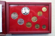 Macau Currency Coins Set - 8 Coins, 1 Banknote and 1 1/2oz Solid Silver Medal