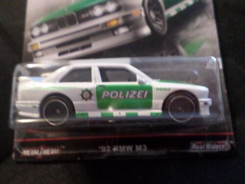 HW HOT WHEELS 2016 voiture Culture Style Euro #3//5 92 BMW M3 Blanc HOTWHEELS Polizei