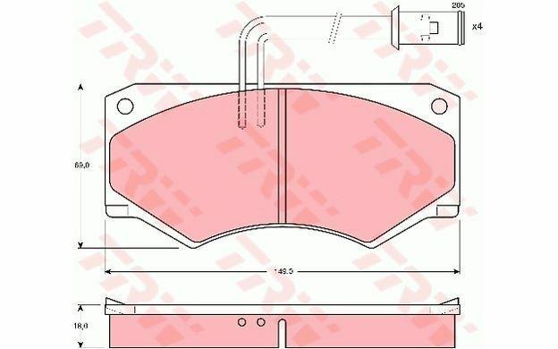 4x TRW Plaquettes de Frein Avant GDB390 - Pièces Auto Mister Auto