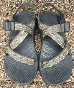 Men's Chaco Z1 Unaweep Sandals Vibram Hiking Water Sports Army Brown Size 10