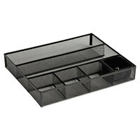 Rolodex Deep Desk Drawer Organizer Metal Mesh Black 22131 on sale
