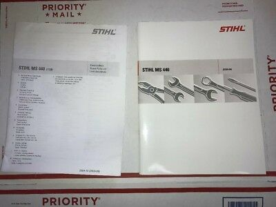 MS 440 Stihl Chainsaw Complete Service Workshop Repair Parts List Manual EBay