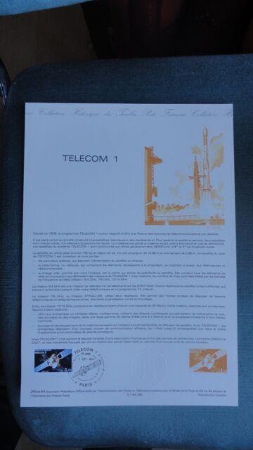 TELECOM 1 COLLECTION HISTORIQUE DU TIMBRE 1ER JOUR