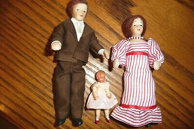 Dolls Miniature Family of Five #10980 Dollhouse Handcrafted Erna Meyer 1//12th