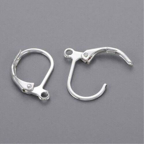 100 Earrings Silver Hypoallergenic Lever Back Leverback Ear Hooks Clasp Findings