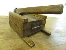 Antique Tortilla Press #8-Old Mexican-Primitive-Rustic-Wood-Original-17Lx8Wx8H