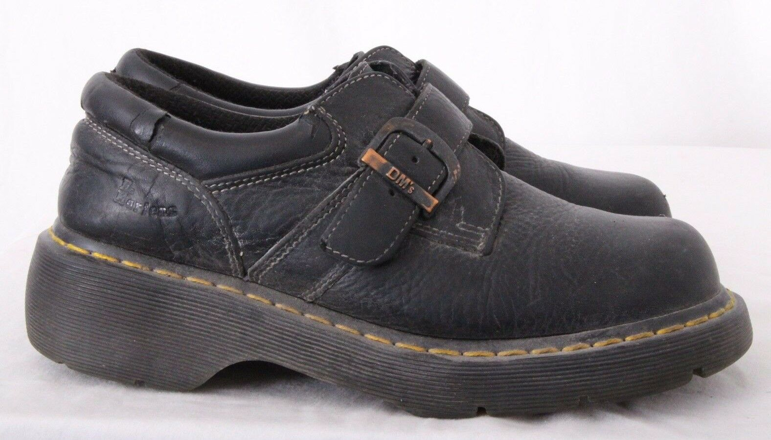 Dr. Martens Doc DM'S 3A78 Buckle Monk Strap Oxford UK 7 Men's US 8 Women's US 9