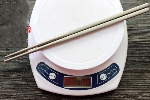 1 Paire Pure Titanium non-toxique vaisselle cuisine camping Baguettes