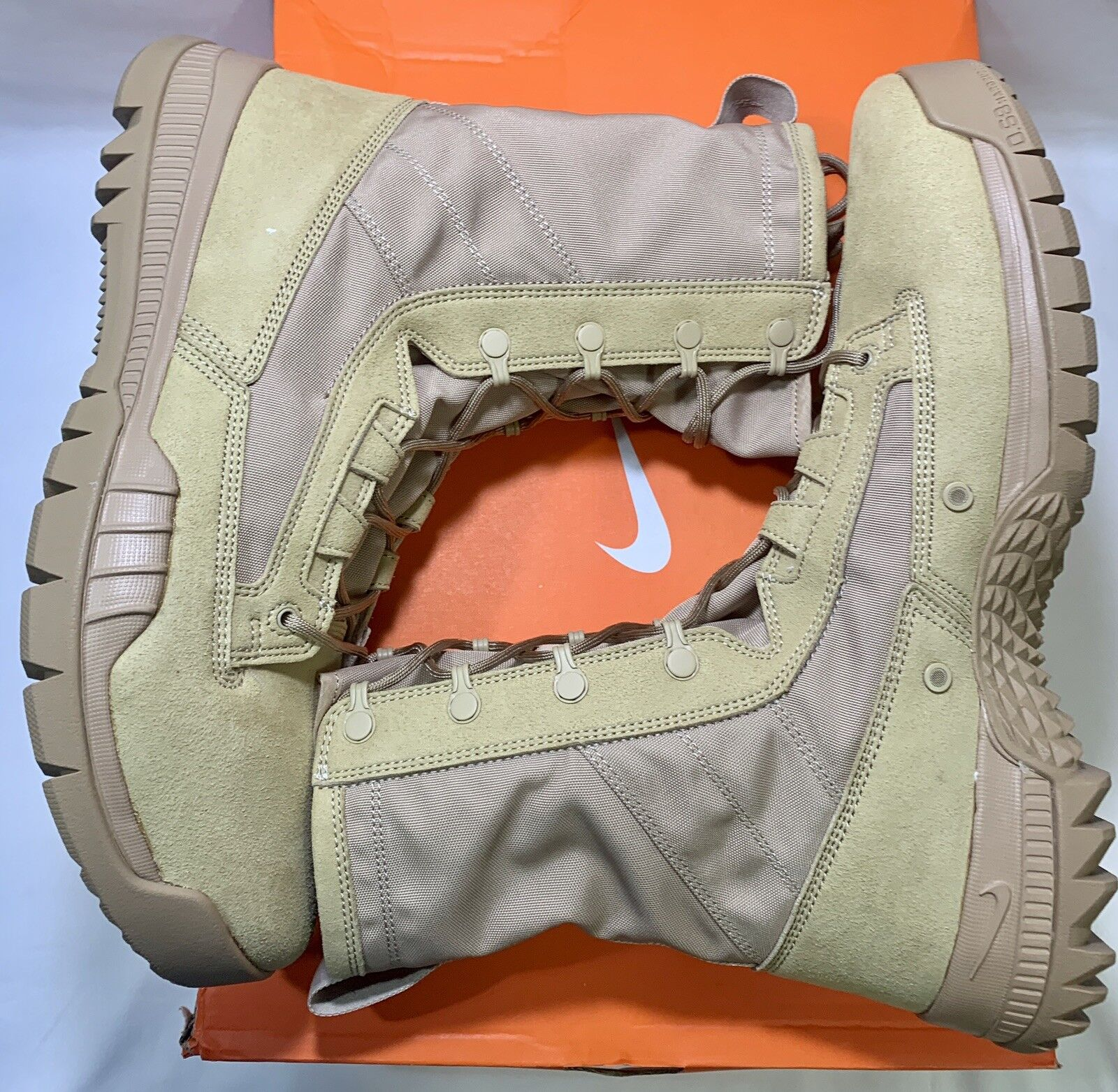 NIKE SFB FIELD 8  TACTICAL MILITARY BOOTS BRITISH KHAKI 631371-220 MEN'S SIZE 12