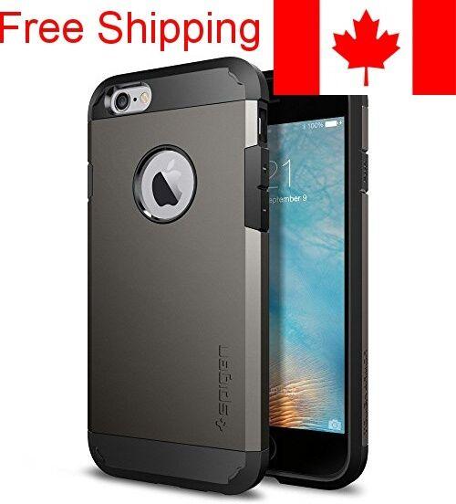 iPhone 6s Case, Spigen Tough Armor Case - Gunmetal Grey for Apple iPhone 6 / iPh