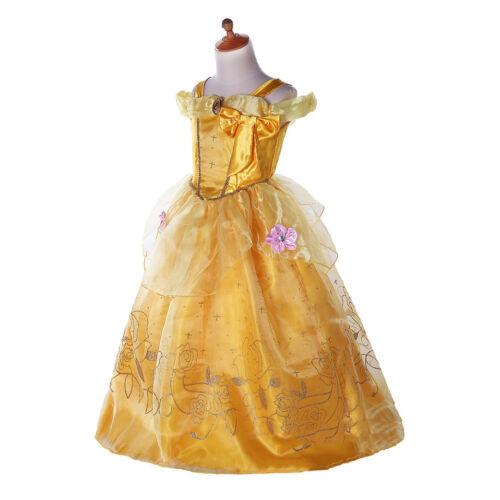 Frozen Vestito Carnevale Maschera Belle Girl Dress up Costume Cape caldo Italia