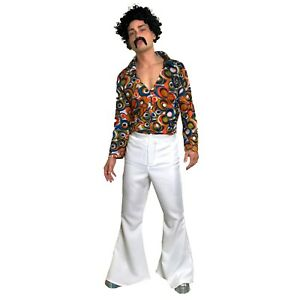 60s 70s Pantalones Acampanados Para Hombre Discoteca Groovy Fancy Dress Saterday Night Fever Whit Ebay