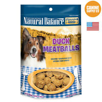 Natural Balance Delectable Delights Meatballs Duck Formula Dog Treats, 4-ounce