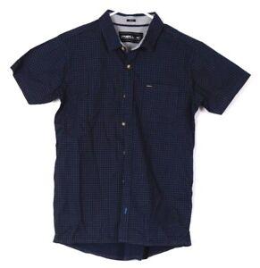 O-039-Neill-Shirt-Small-Mens-Dress-Shirt-Button-Up-Formal-Designer-Blue-Top-s