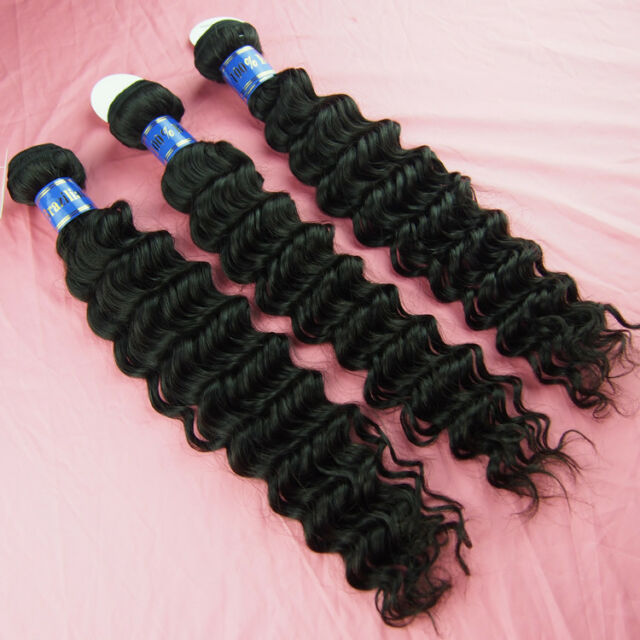 100% virgin indian remy human hair weft extensions unprocessed 3 bundles 300g