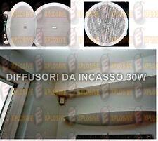 """KIT 4 CASSE DIFFUSORI SPEAKER INCASSO SOFFITTO CARTONGESSO 4"""" 151mm 6WATT AUDIO"""