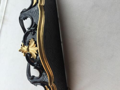 Applique Murale Antique Noir-Or Supports de Miroir Baroque Étagère Console