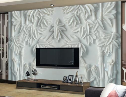 3D Bamboo Emboss 489 Wallpaper Murals Wall Print Wallpaper Mural AJ WALL UK Kyra