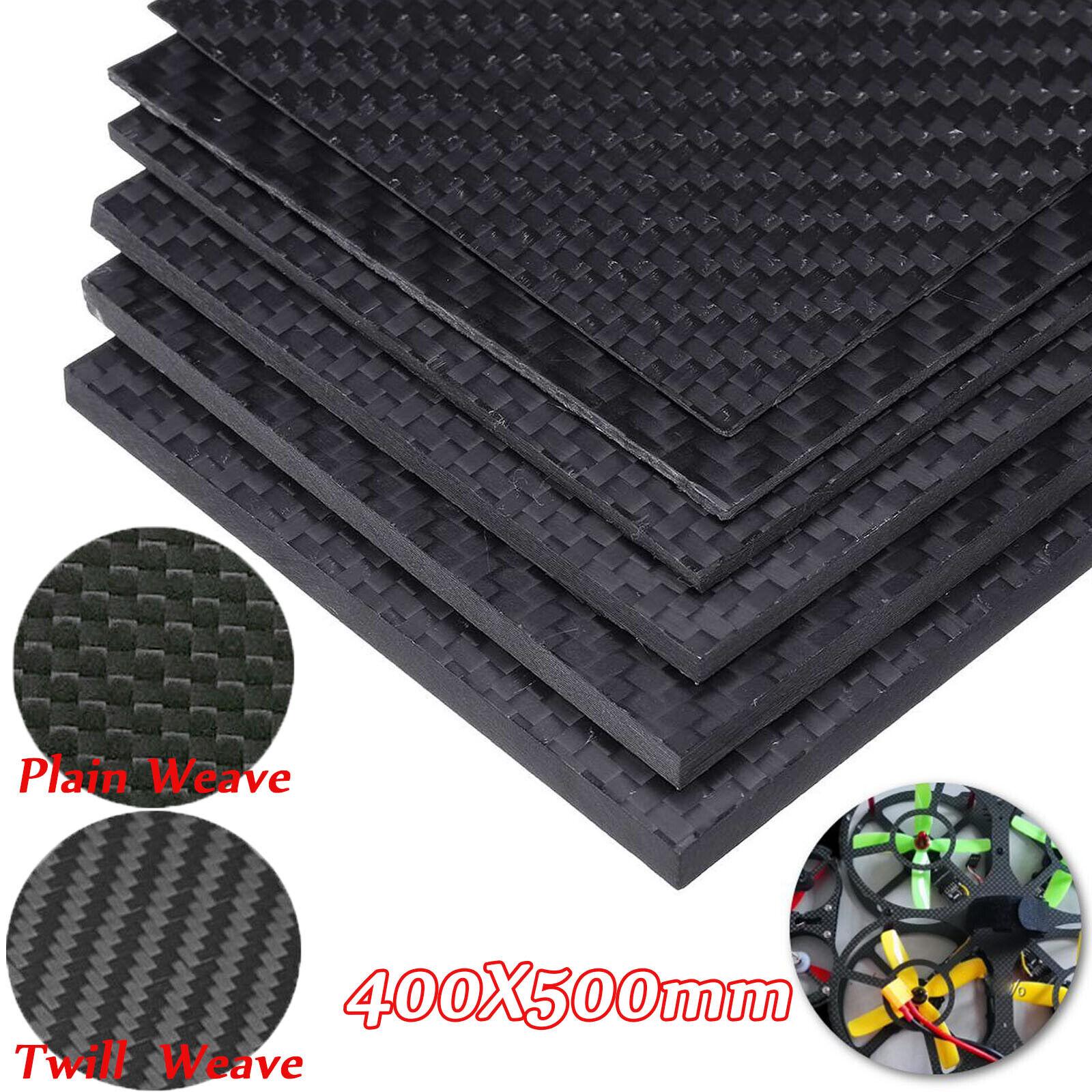 NEW 125×75×5mm Twill Weave Carbon Fiber Plate Panel Sheet