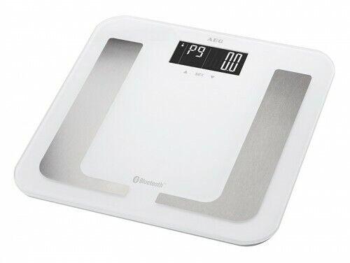 AEG Bilancia Pesapersone 8in1 con Bluetooth e App Bianco grasso corporeo bilancia FITNESS BIANCO