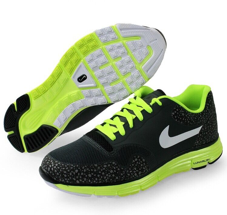 Nike Lunar Safari Fuse 10.5 Black Grey Volt Atmos Air Max 1 Zero 3M Reflective