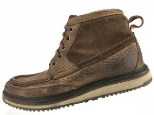 Toe Lookout 5 7 Up Moc D Pelle Marrone Ariat Stivaletti Lace 4lr Mens Chukka 5WfPawZ0q7