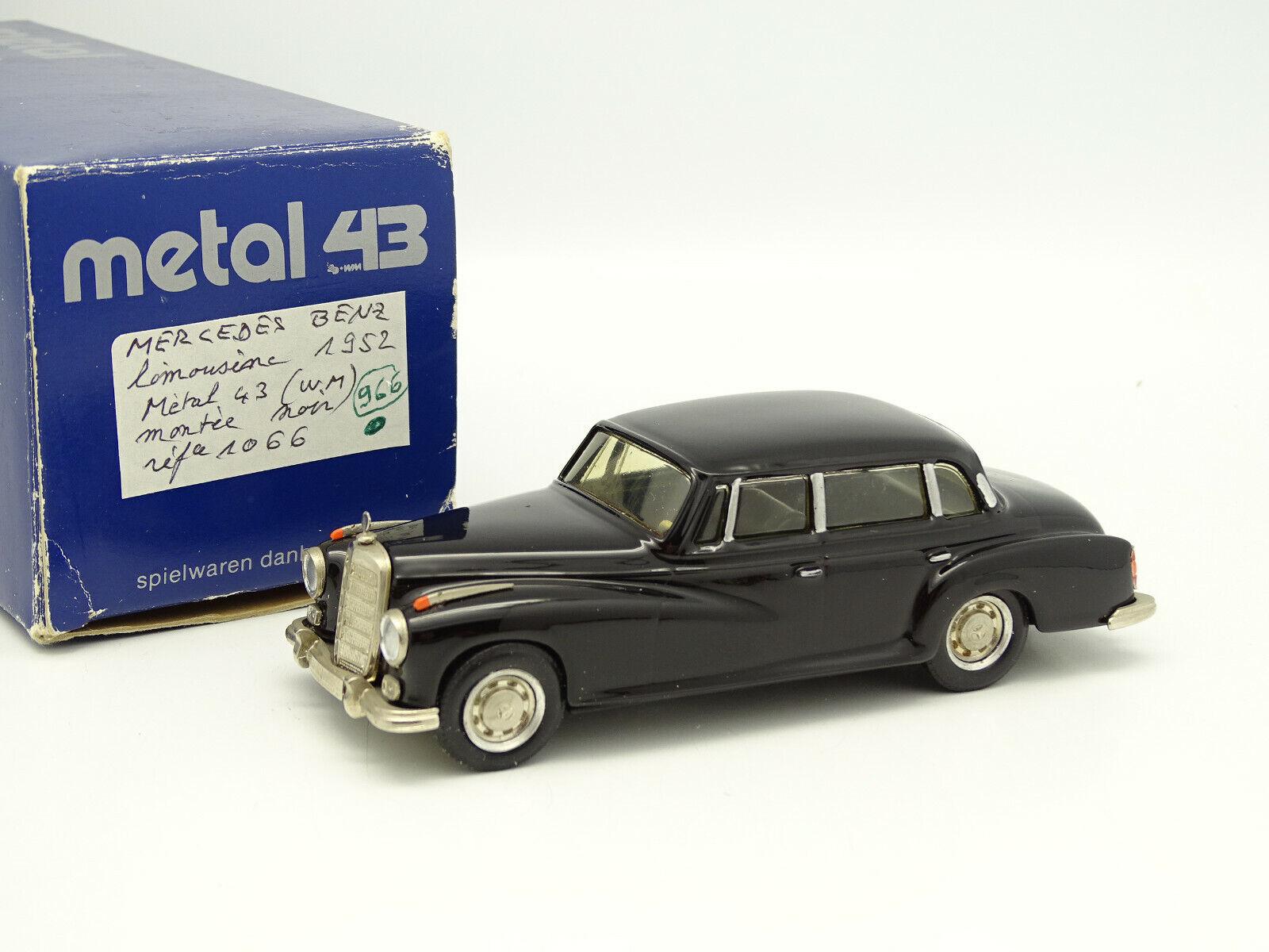 Wm metal 43 spielwaren Danhausen 1 43 - mercedes 300 limousine 1952 black