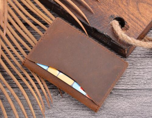 Véritable Crazy Horse en cuir Slim Portefeuille Compact du détenteur de la carte de crédit sac