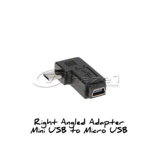 Mini USB Adaptador De Ángulo Micro USB Coche DC para Tablet teléfono móvil Dashcam Sat Nav