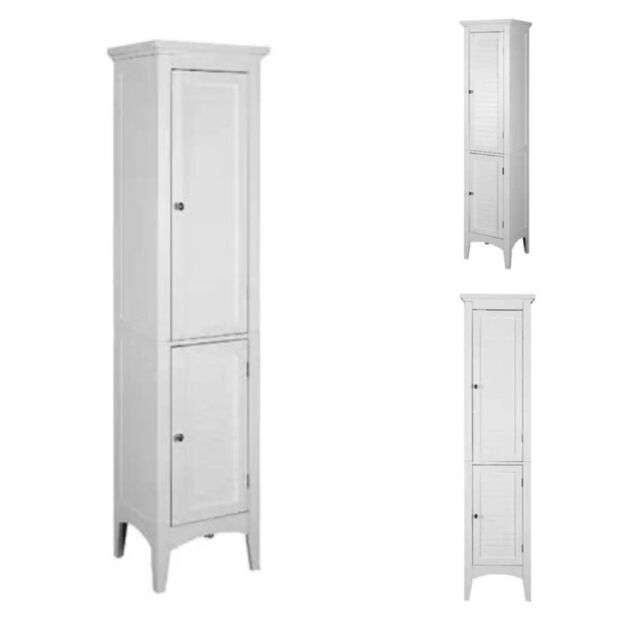 Bathroom Storage Cabinet Ebay bathroom storage cabinet floor standing linen tower wood kitchen