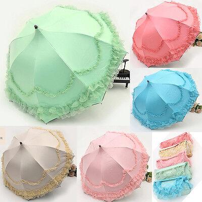 Lace Lacework Floding Pagoda Umbrella Sun Rain Anti UV Princess For Wedding New