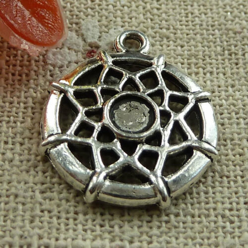 Free Ship 160 pieces tibetan silver cobweb charms 21x18mm #1435
