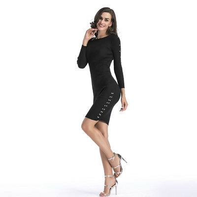 Knitted Sweater Dress Women Black Elegant Sexy Pull Knit Winter Dresses Autumn Ebay