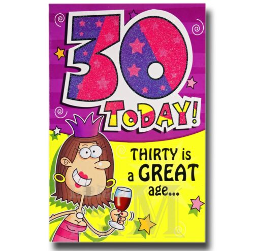 Various Designs Available Mum 30th Birthday Cards General Open Brother