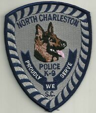 K-9 DHF NORTH CHARLESTON S.C.  Police Patch Polizei Abzeichen Dienst-Hundeführer