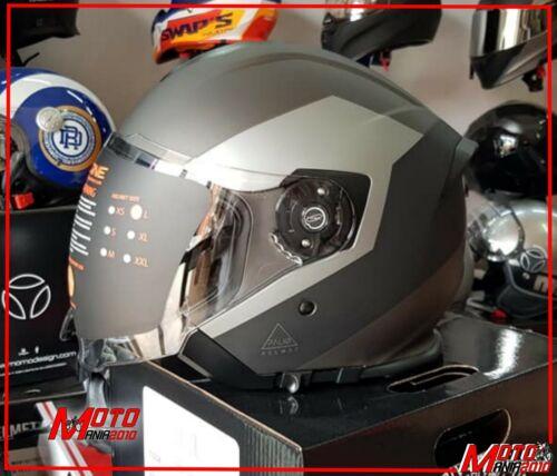 CASCO JET DOPPI VISIERA ORIGINE HELMETS PALIO 2.0 EKO MATT BLACK TITANIUM TG XL