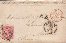 Lettre Messina Italia Italie AMB Marseille France Cover Brief Italy