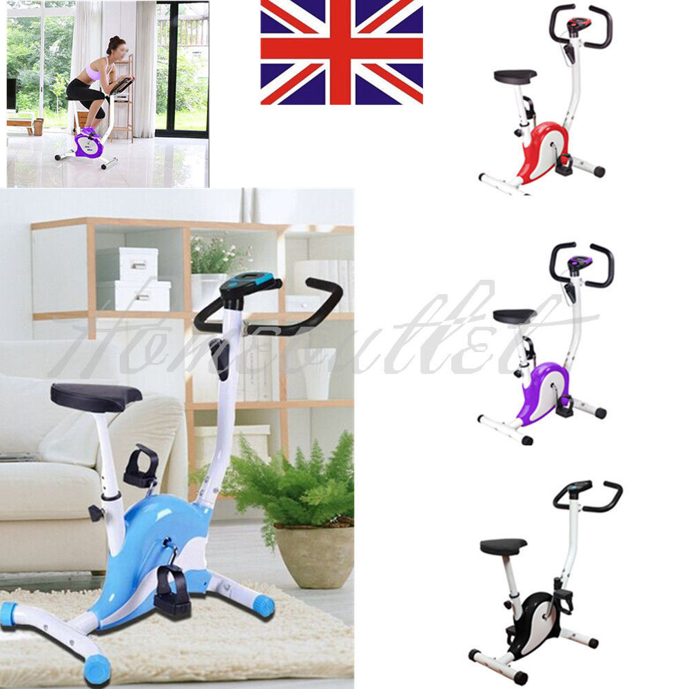 Gym Fitness Cardio Workout Trainer Exercise Bike Bicycle Adjustable Resistance