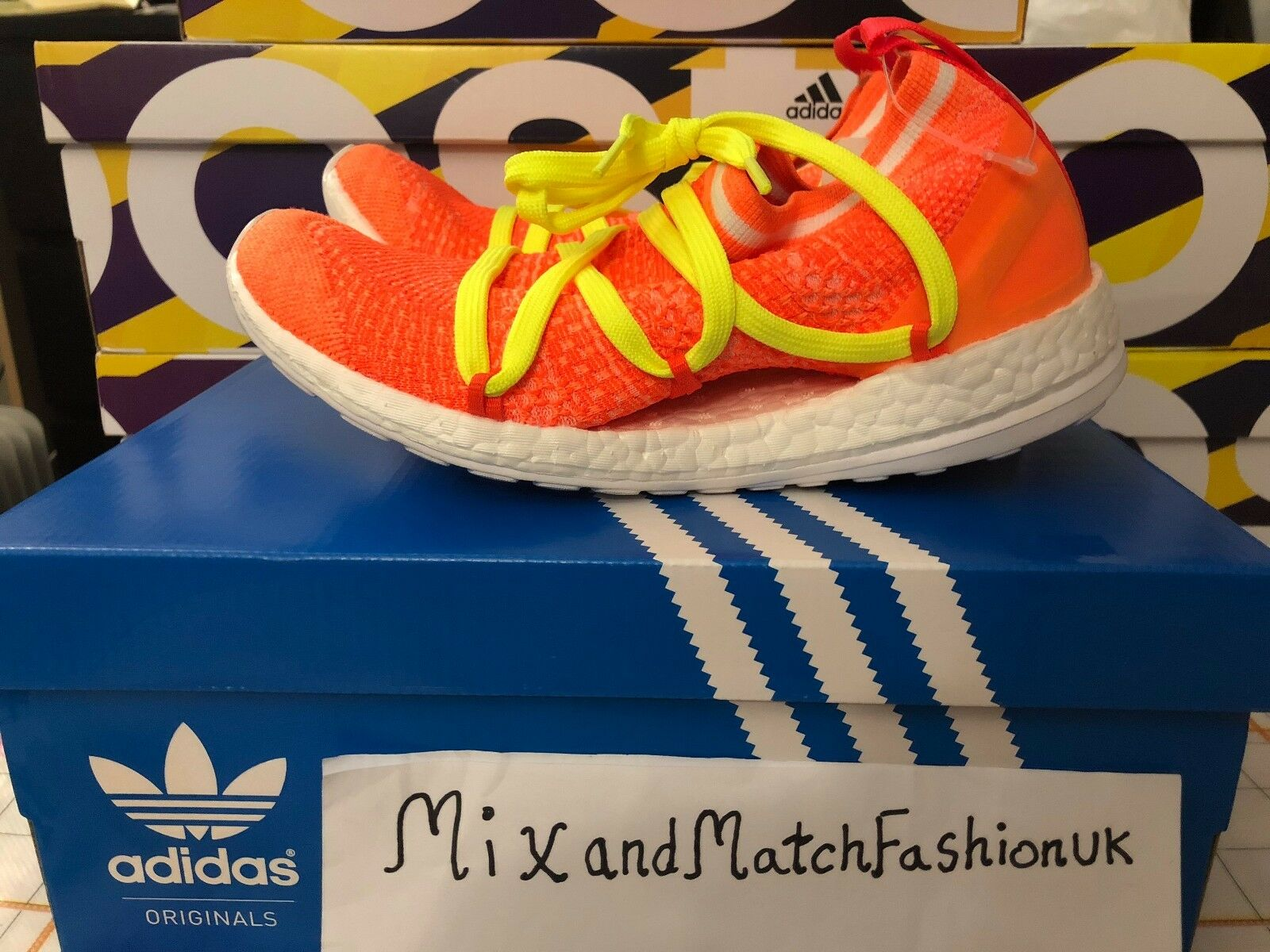 Adidas Sun Stella McCartney Boost Sun Adidas Orange yellow UK 5.5 US 7 BB4087 NEW 984e12