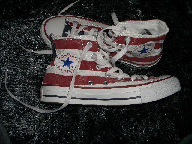 Converse Chucks Flagge mit amerikanischer Flagge Chucks Gr. 37 neu 60c2cd